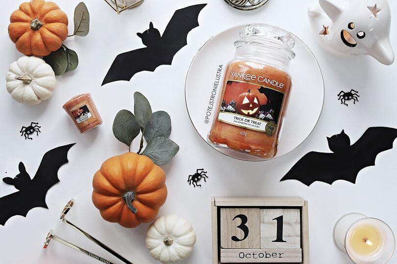 świeca yankee candle trick or treat halloween 2019 blog