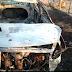 Carro é incendiado na PB-417 próximo da cidade de Bom Jesus nessa quinta, poder ter sido usado em assalto ao Fórum de Iguatu