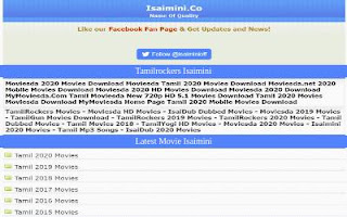 New Isaimini Tamilrockers Tamil Dubbed Movies Download Website
