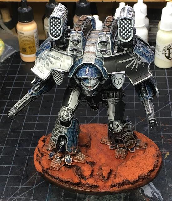 Adeptus Titanicus Legio Tempestus Warlord Battle Titan WIP - based