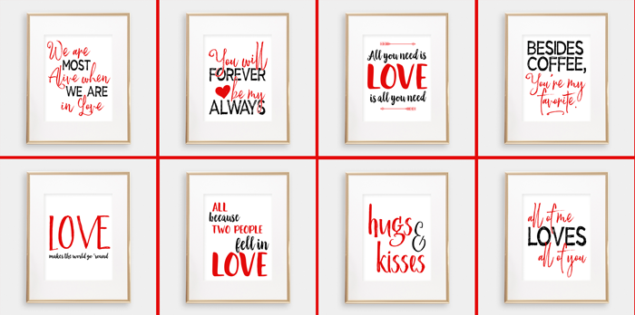 Valentine Quote Printables