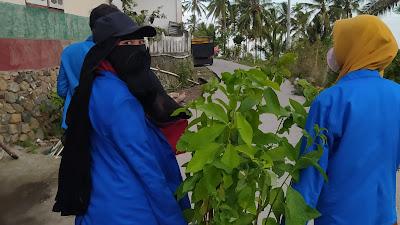 Mahasiswa KKN UGR Keliling Dusun Bagikan Warga Bibit Pohon Alpukat