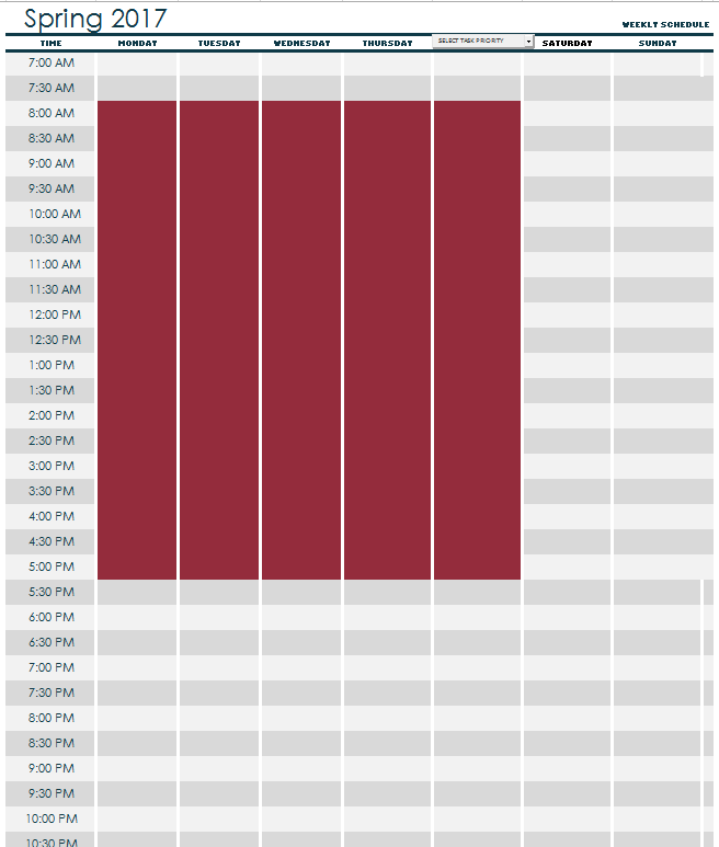 How to Plan A Full Time School Schedule When You Work Full ...