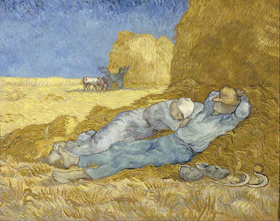 Vincent van Gogh. 1891 Noon-Rest from Work (after Millet)