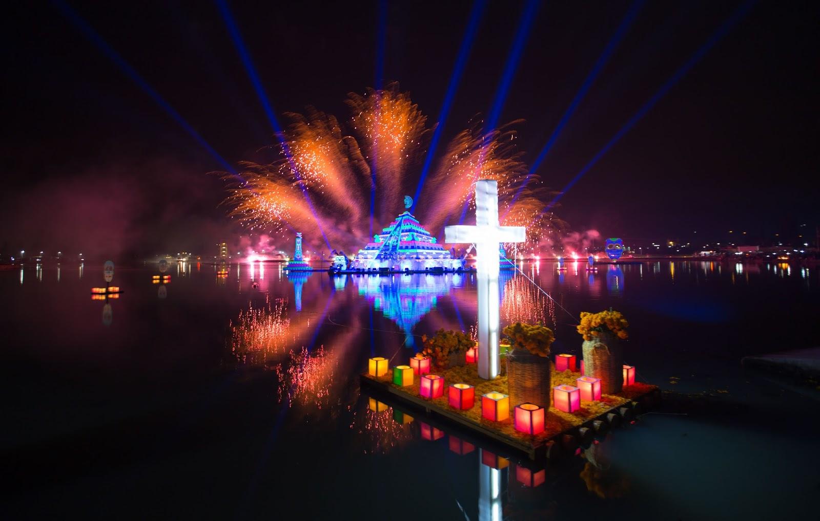 vista del festival de la luz y la vida