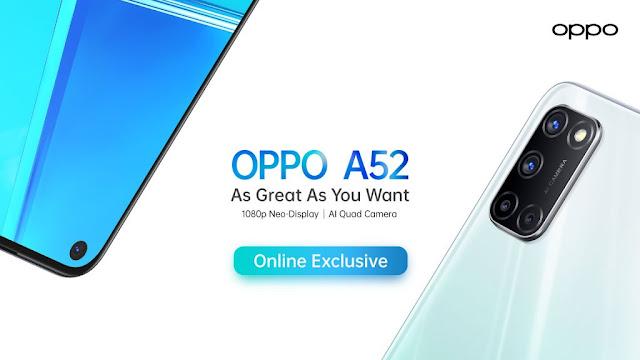 oppo a52 spek, spesifikasi harga lengkap