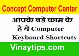 आपके बड़े काम के है ये Computer Keyboard Shortcuts