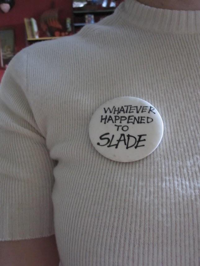 badge slade glam rock vintage pinback button