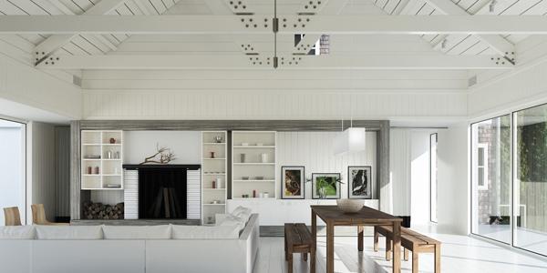 Rumah putih bersih rapi