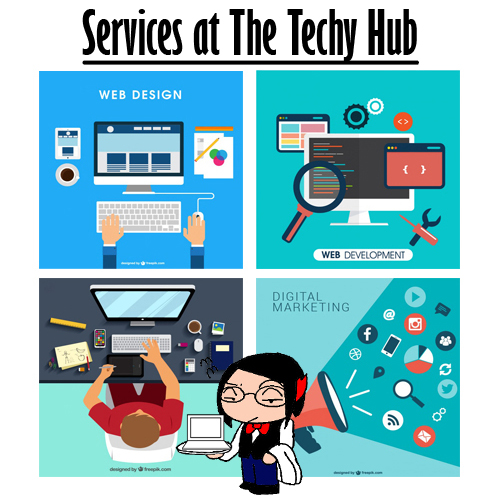 The Techy Hub, web design, web development, graphic design, digital marketing