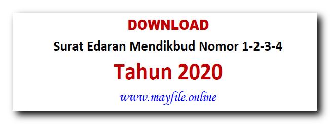 Produk Surat Edaran Menteri Pendidikan No 1,2,3,4 Tahun 2020