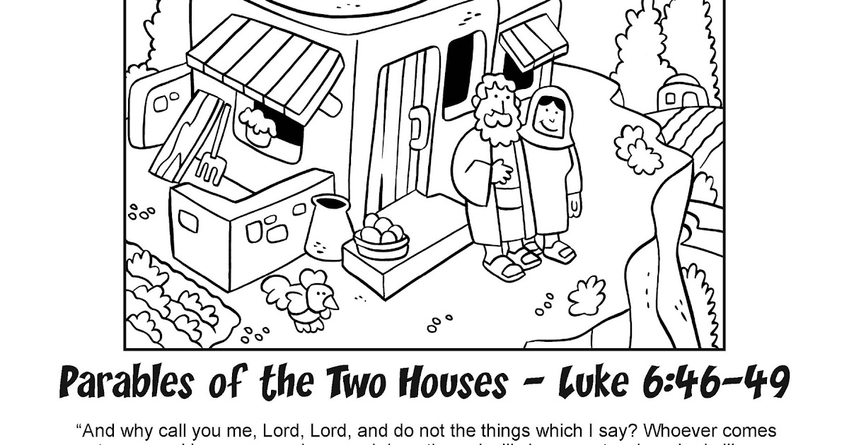 My Little House: Bible Coloring Pages - The Two Houses