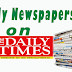 NAIJA NEWSPAPERS: TODAY'S THE DAILY TIMES NEWSPAPER HEADLINES [7TH JANUARY, 2017].