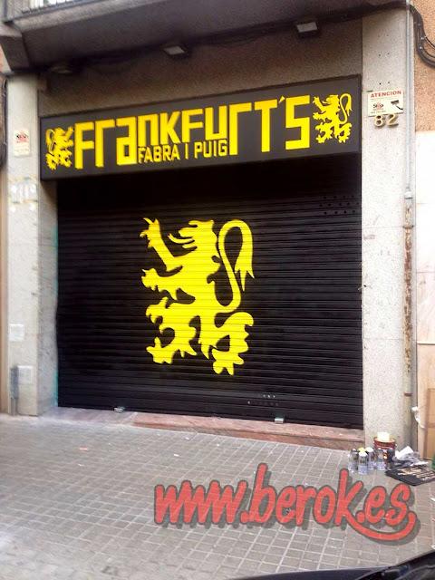 grafiti persiana de Frankfurt Fabra i Puig