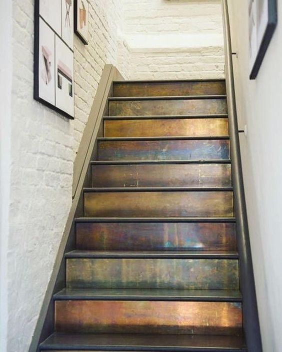 copper stair risers