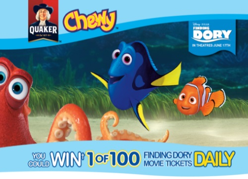 Quaker Finding Dory Movie Tickets Giveaway