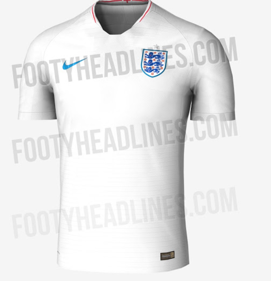 England World Cup 2018 Home kit
