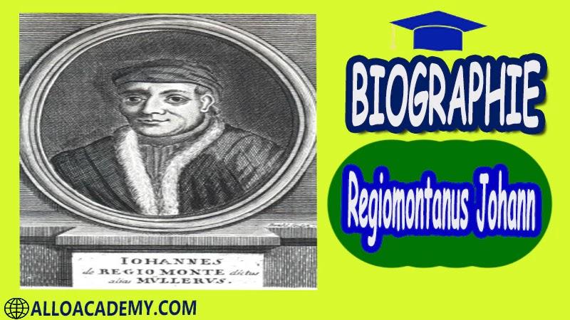 Regiomontanus Johann (1436 - 1476) - autobiographie Astronome et mathématicien allemand Regiomontanus Johann biographie biographie autobiographie autobiographie livre écrire une autobiographie biographie a lire autobiographiques livre autobiographique gratuit