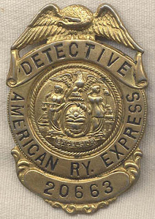 Antique American Express Detective/ Agent Badge