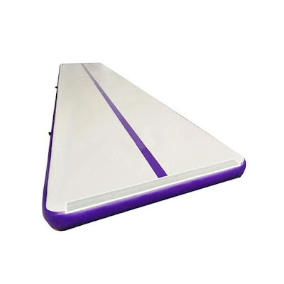 lovely purple inflatable air training track gym mat