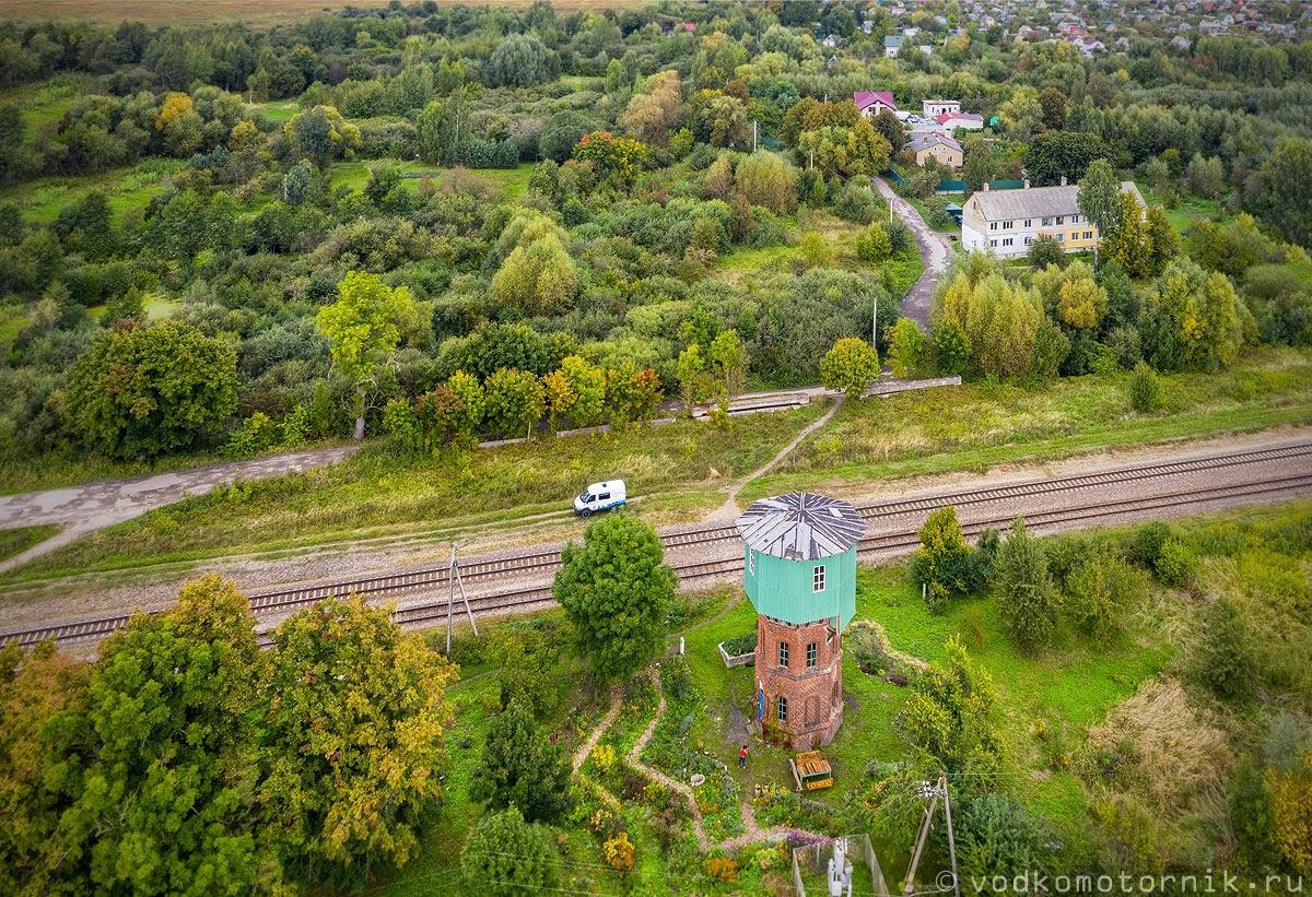 Аэросъемка водонапорной башни в поселке Светлое