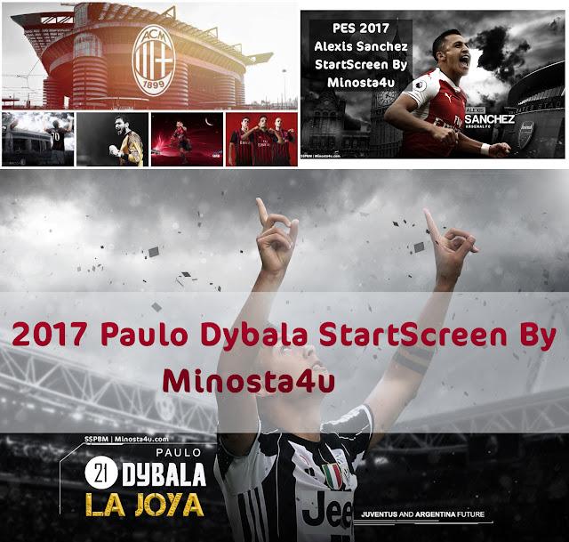 PES 2017 Startscreen Collection dari Minosta4U