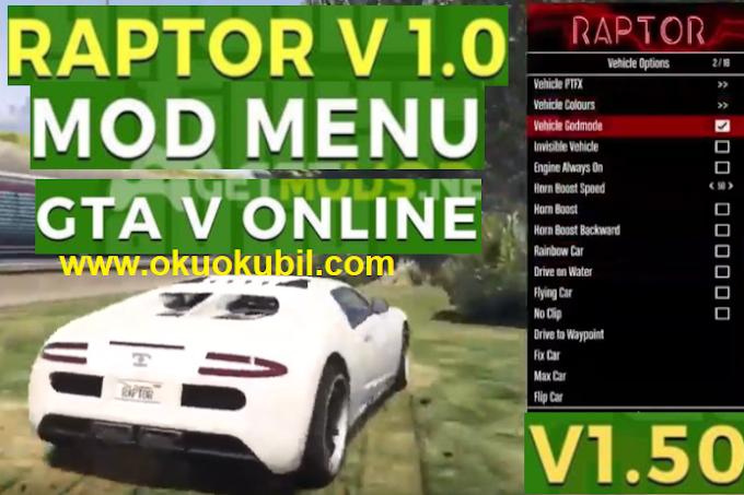 GTA 5 Online 1.50 Raptor Menu Sınırsız Para Hilesi İndir 2020