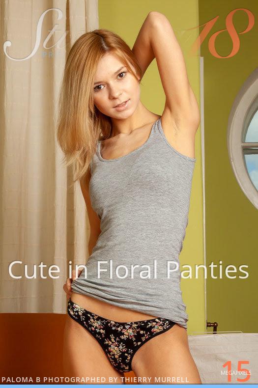 [Stunning18] Paloma B - Cute In Floral Panties 5468429529