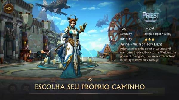 Jogo de RPG MMORPG para Android e iOS