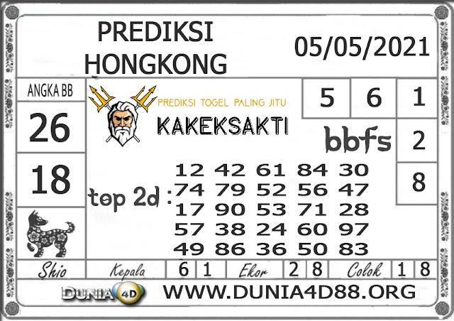 Prediksi Togel HONGKONG DUNIA4D 05 MEI 2021