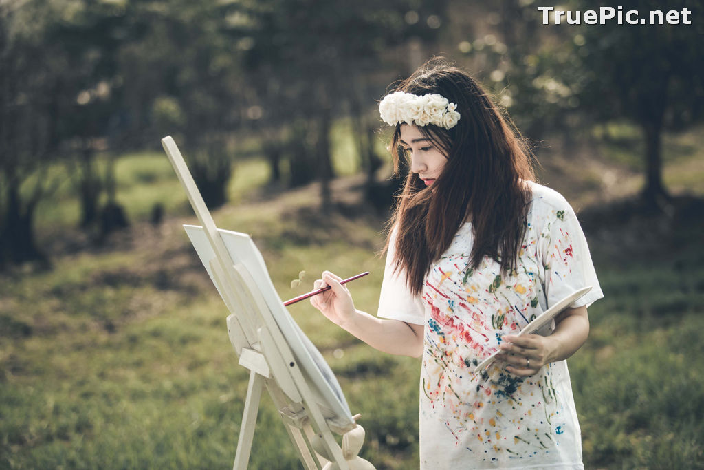 Image Vietnamese Model - How To Beautiful Angel Become An Painter - TruePic.net - Picture-6