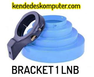 Bracket 1 LNB 1 Satelit, 1 Receiver, 1 Parabola