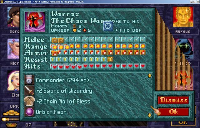 Warrax Hero from Master of Magic game screenshot