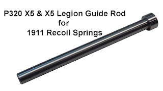 Sig X5 Guide Rod, X5 Legion Guide Rod, Sig P320 X5, Guide rod, 1911 Recoil Spring, Cycle, Replacement
