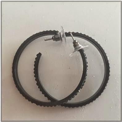 Lovisa Black Hoop Earrings