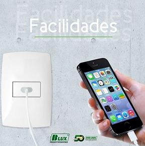 B.Lux Tomadas e Interruptores - Tomada USB