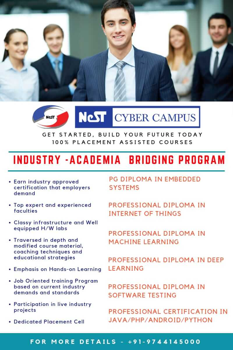 Internship and Placement Assisted Programs at NeST Cyber Campus