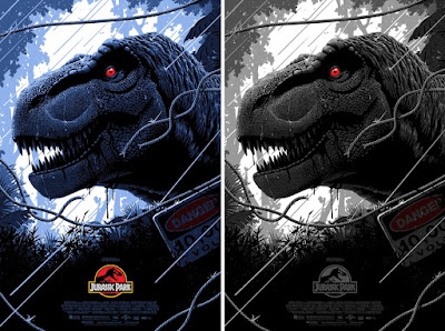 Jurassic Park Movie Poster Screen Print by Florey x Bottleneck Gallery x Vice Press