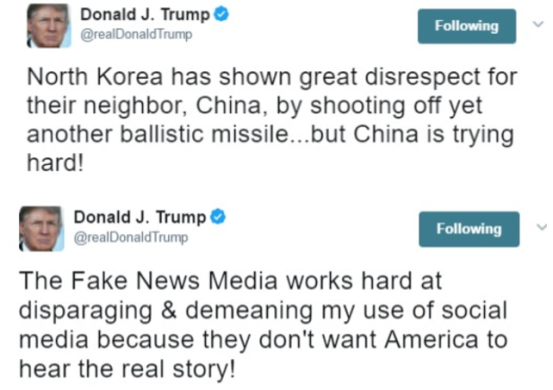 North Korea has shown great disrespect to China with another missile test - Donald Trump