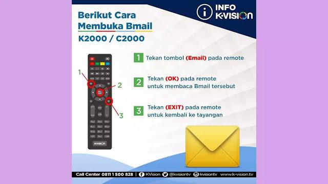 cara membuka pesan masuk di decoder K2000 dan C2000