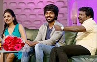 No ago round with G V Prakash, Srushti and Karunas – Koffee With DD
