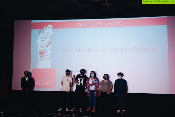 El centro palmero Manolo Blahnik gana el premio al mejor actor de Bachillerato de Cinedfest 8