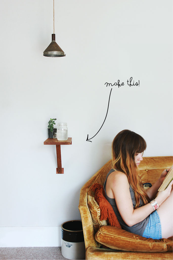 Diy Wall Mount Side Table Poppytalk