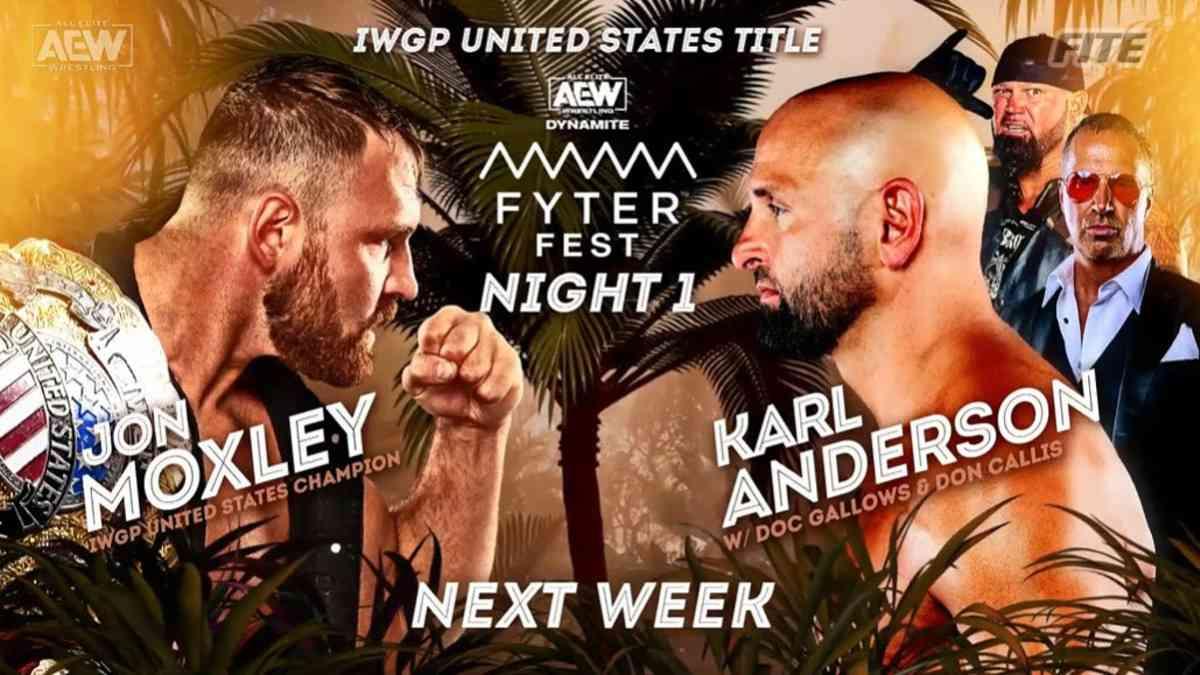 Luta pelo IWGP United States Championship é anunciada para a primeira noite do AEW Fyter Fest