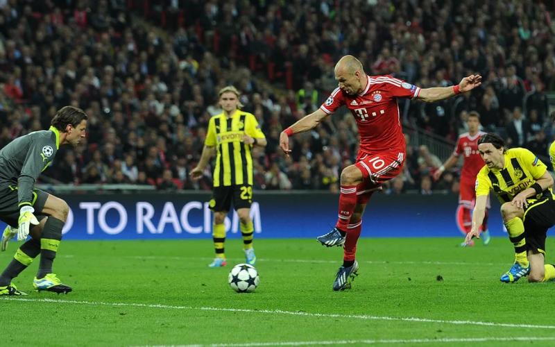 Robben finaliza para dar ao Bayern o quinto título de Liga dos Campeões (AFP)