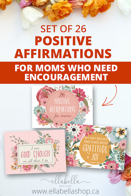 Set of 26 Positive Affirmations for Moms That Can Change Your Life! Positive Affirmations Printable Pack