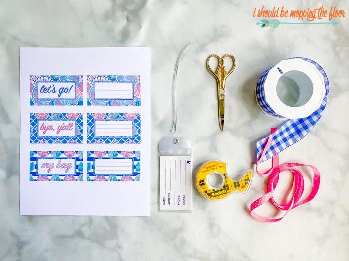 Lily Pulitzer-Inspired Luggage Tags