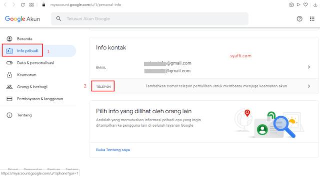 Cara Menambahkan Nomor Telepon di Akun Google