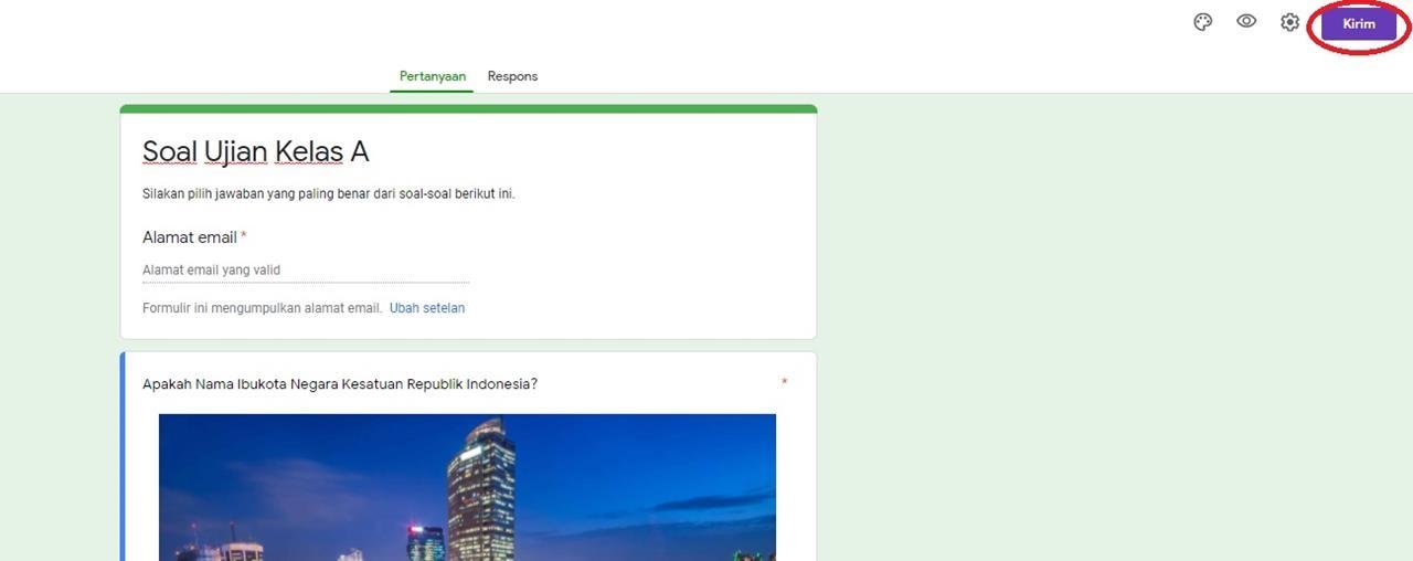 mengirim google form lewat email