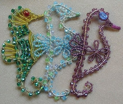 make a decorative beaded seahorse